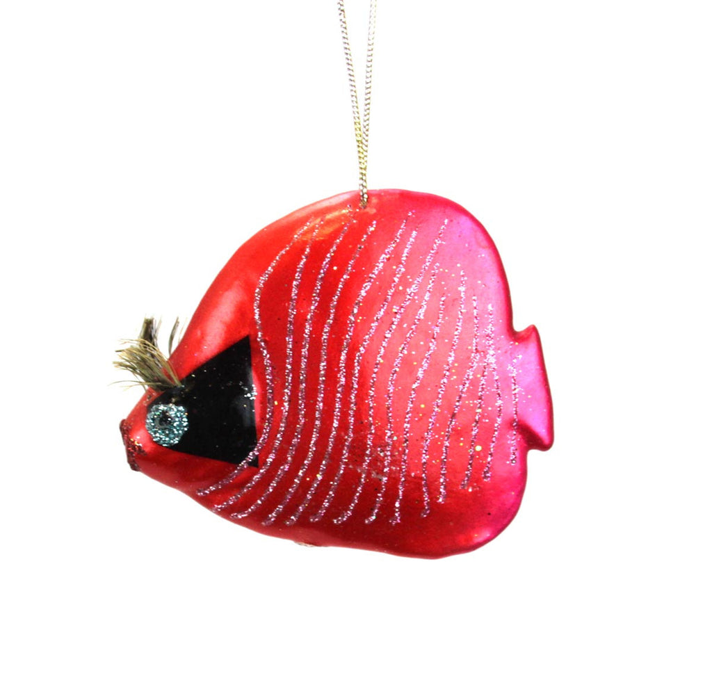 Striped Squirrel Fish Red Ornament