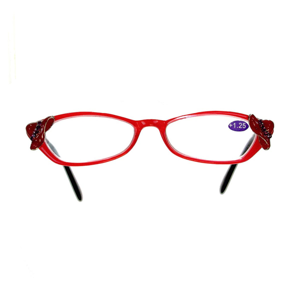 +1.25 Red Hat Reading Glasses DG