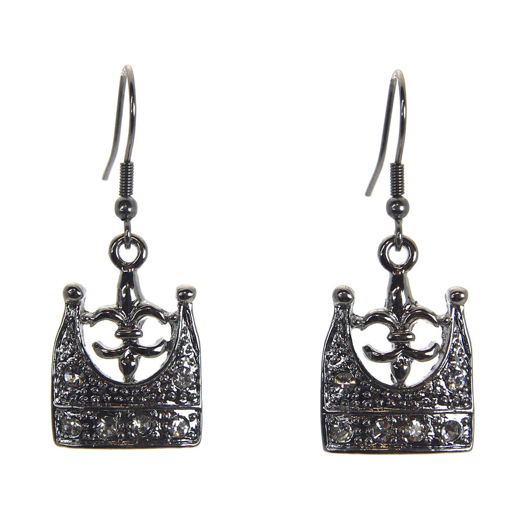 Crown Fleur-de-Lis Earrings