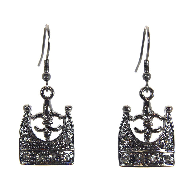 Crown Fleur de Lis Earrings