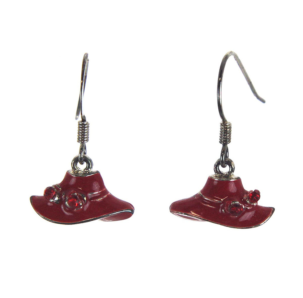 Red Hat Enamel Earring