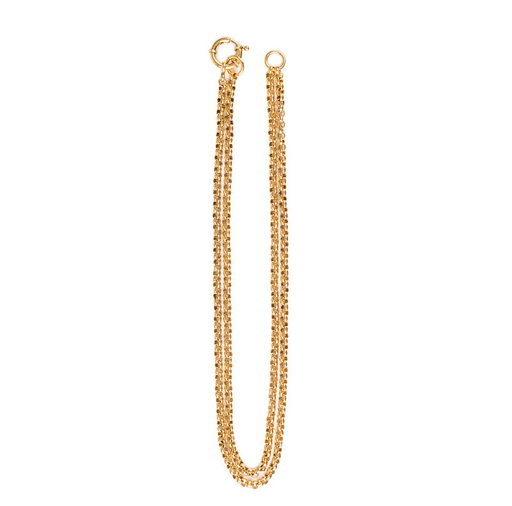 Adjustable Charm Holder Necklace - Gold
