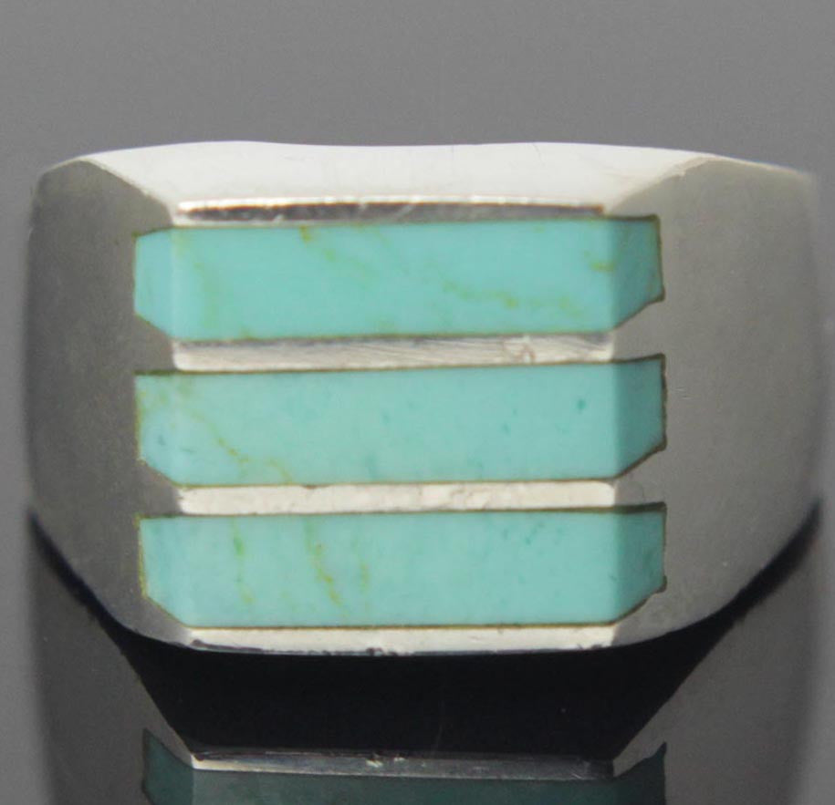 Sterling Silver Turquoise Ring Size 10.5