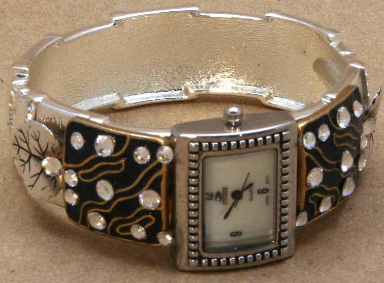 Watch Bracelet with Crystals