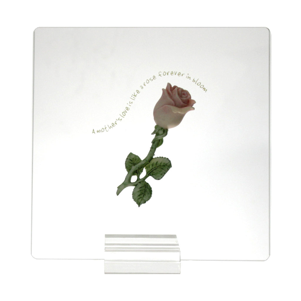 Mother's Love Rose Stem Plaque