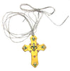 Leather Cross Pendant Fleur De Lis Charms