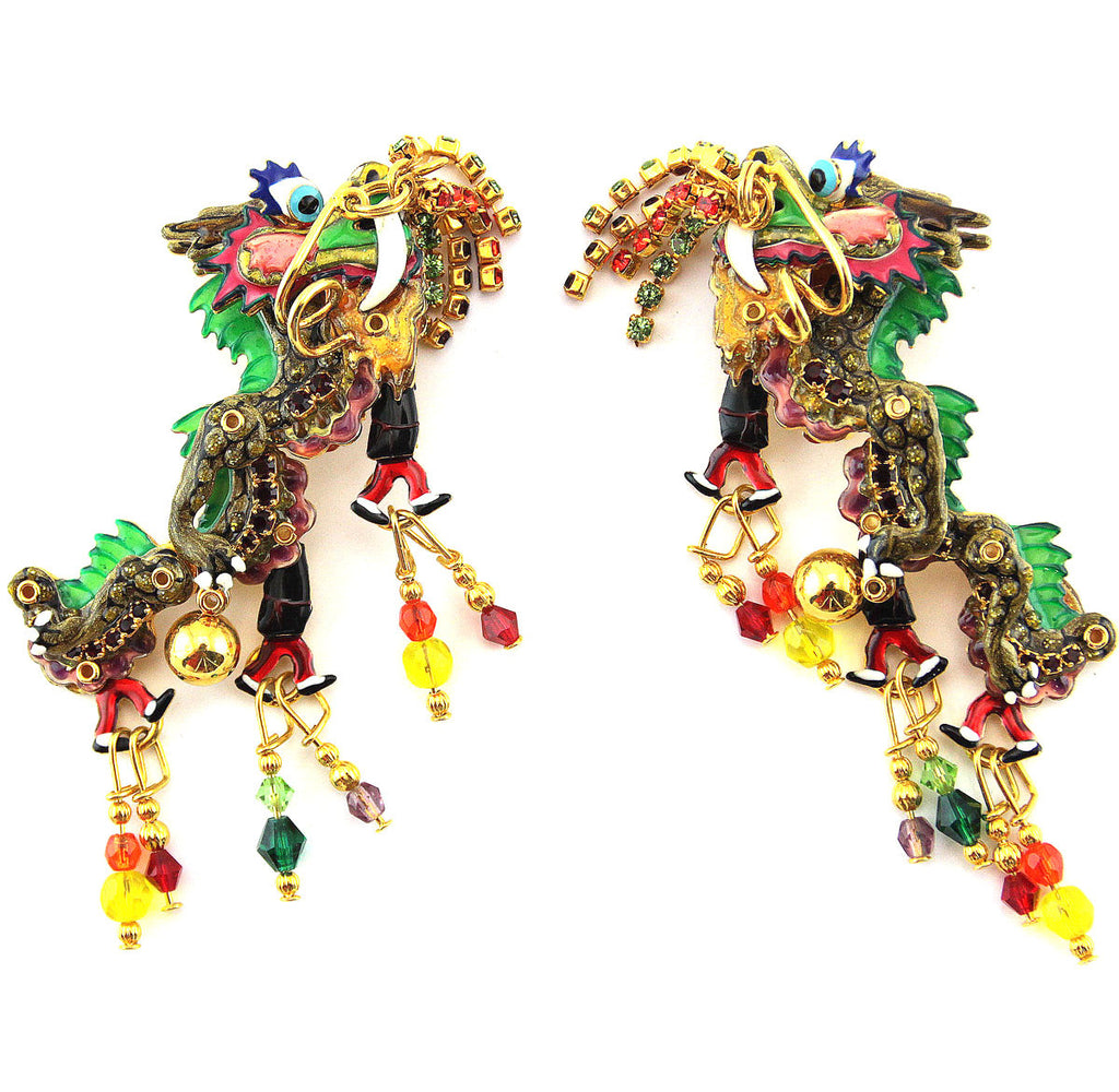 Dragon Clip Earrings