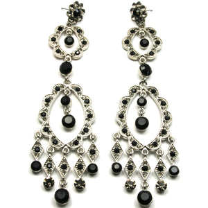 Chandelier Earrings Black
