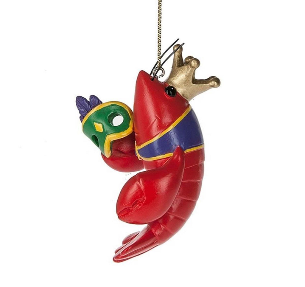 Crawfish Ornament Mardi Gras