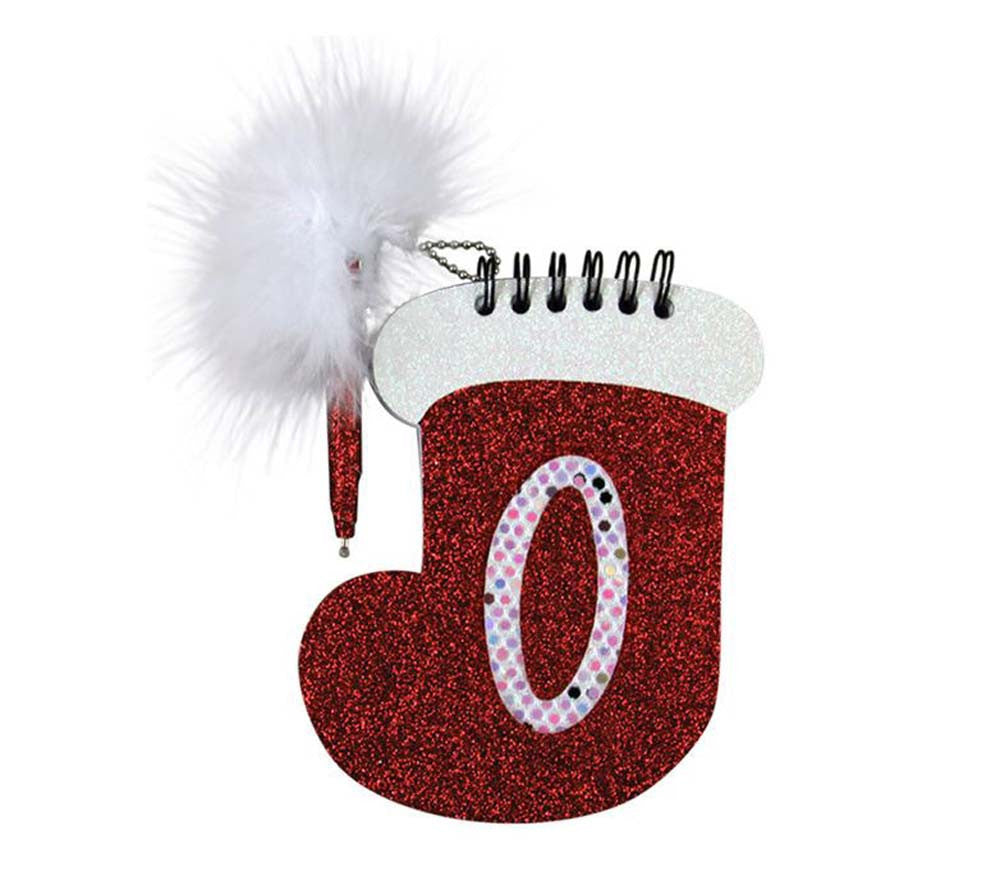 Christmas Stocking Memo Pad & Pen - O