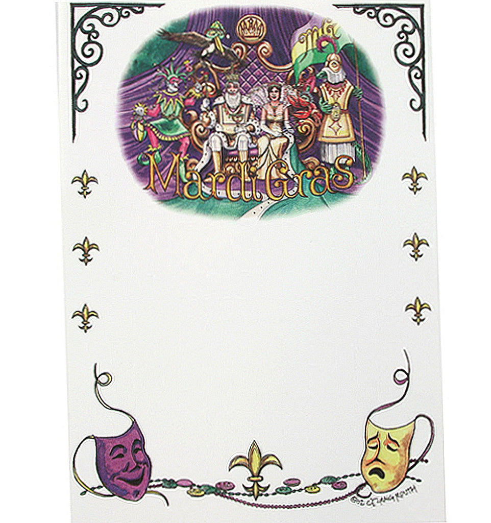 Mardi Gras Court, King, Queen & Jester Note Cards