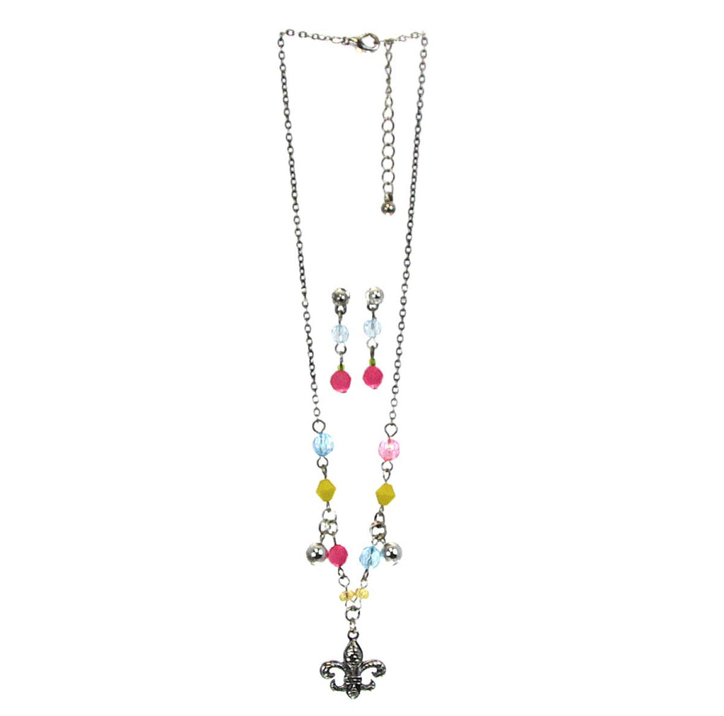 Fleur De Lis Necklace & Earrings