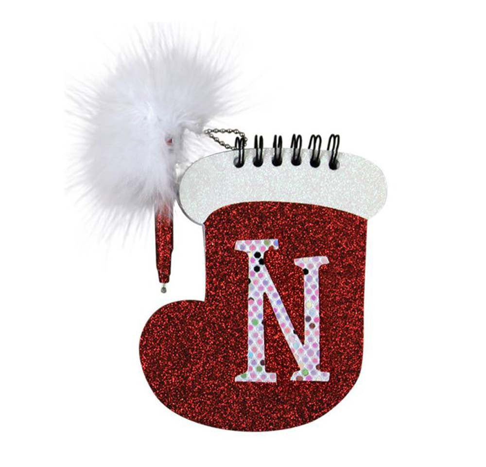 Christmas Stocking Memo Pad & Pen - N