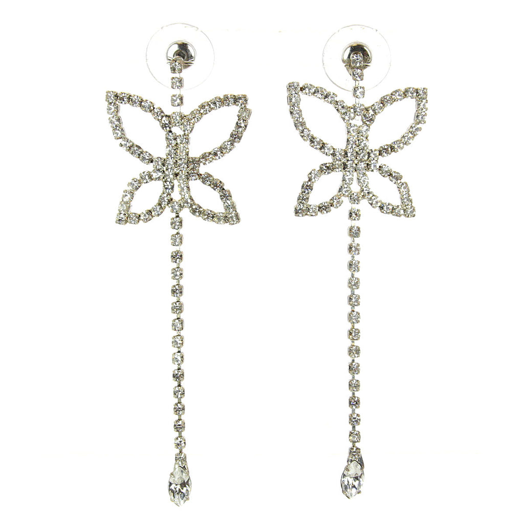 Butterfly Earrings Rhinestone
