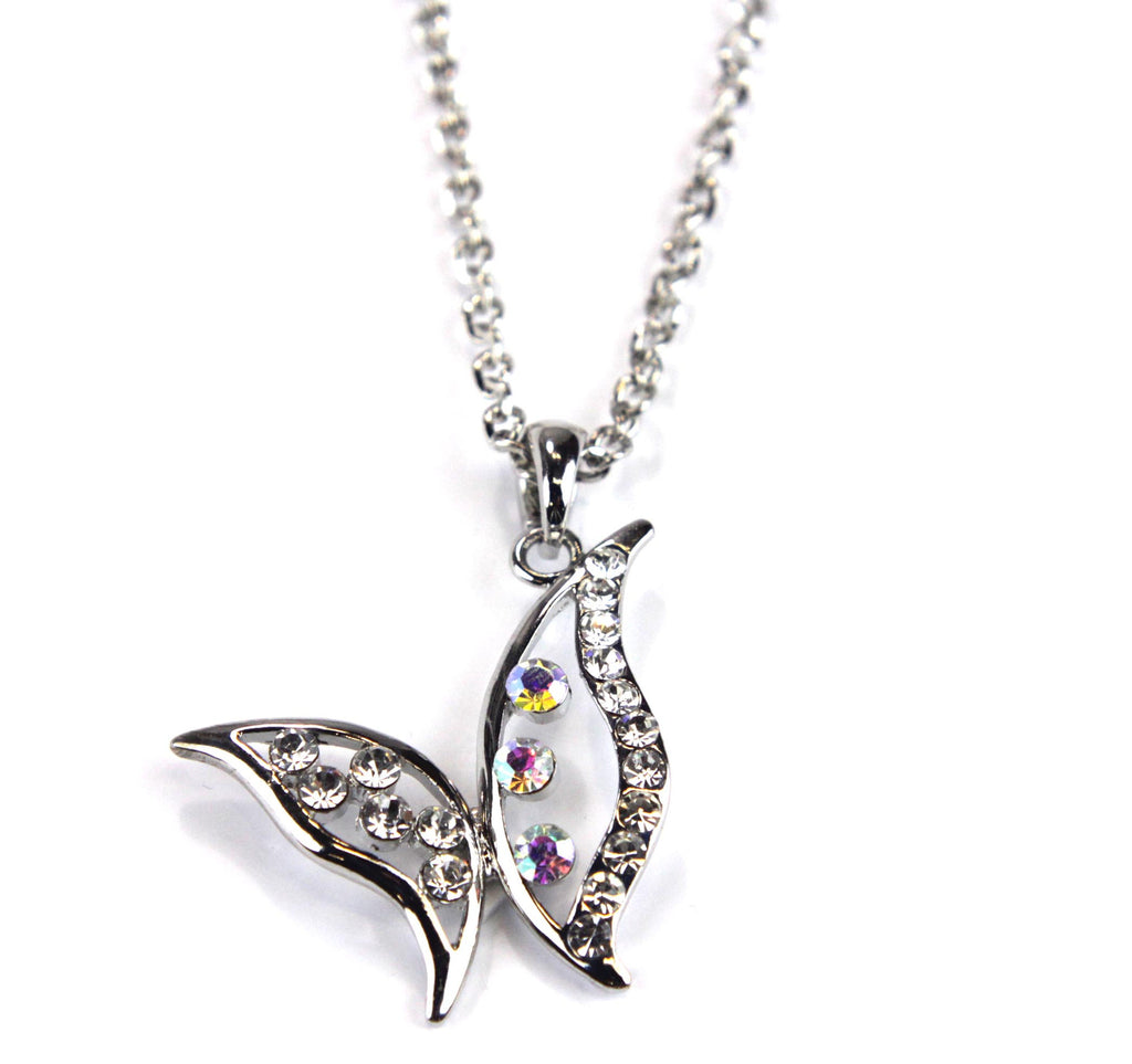 Butterfly Necklace Rhinestone