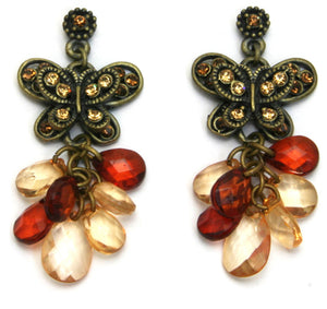 Butterfly Earrings Beaded