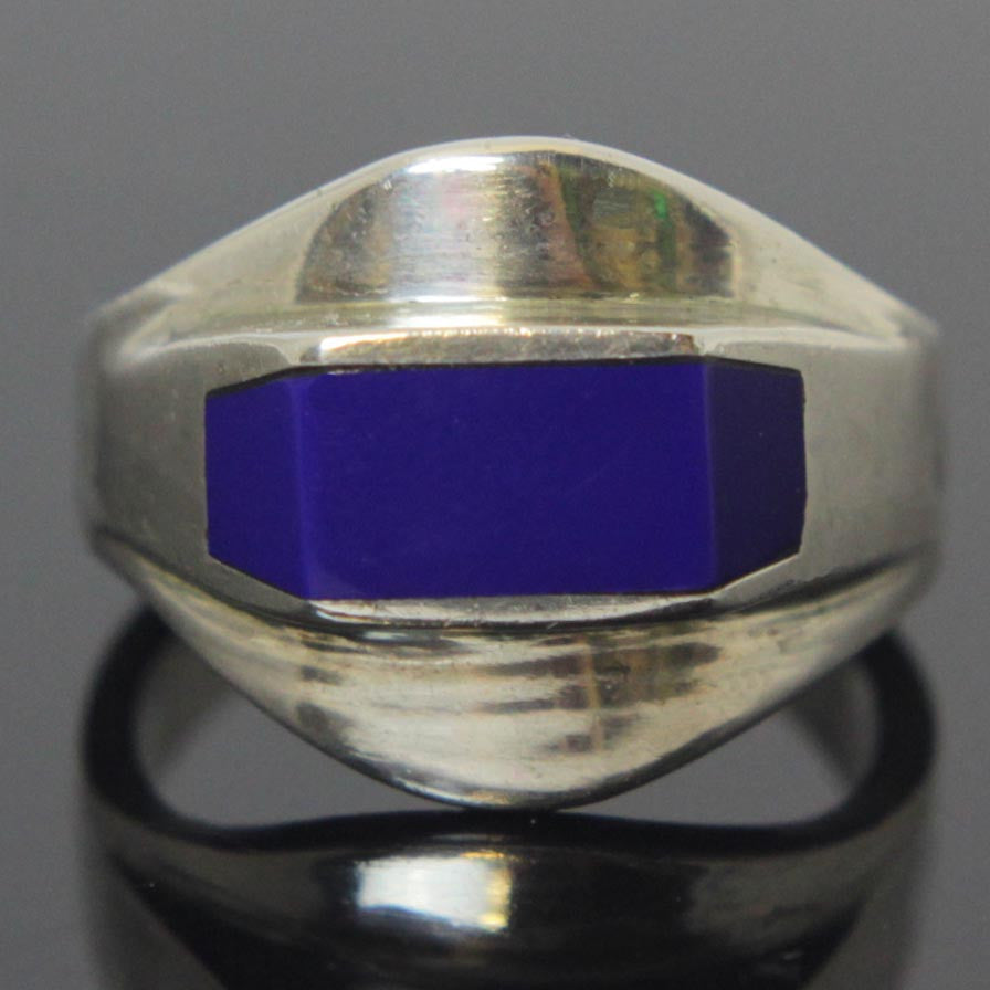 Sterling Silver Lapis Ring Size 8
