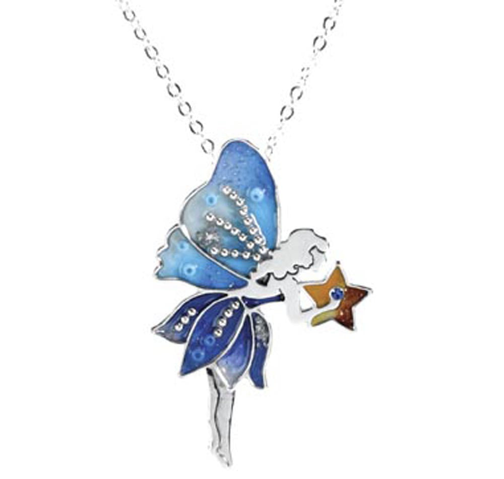 Fairy Necklace Blue