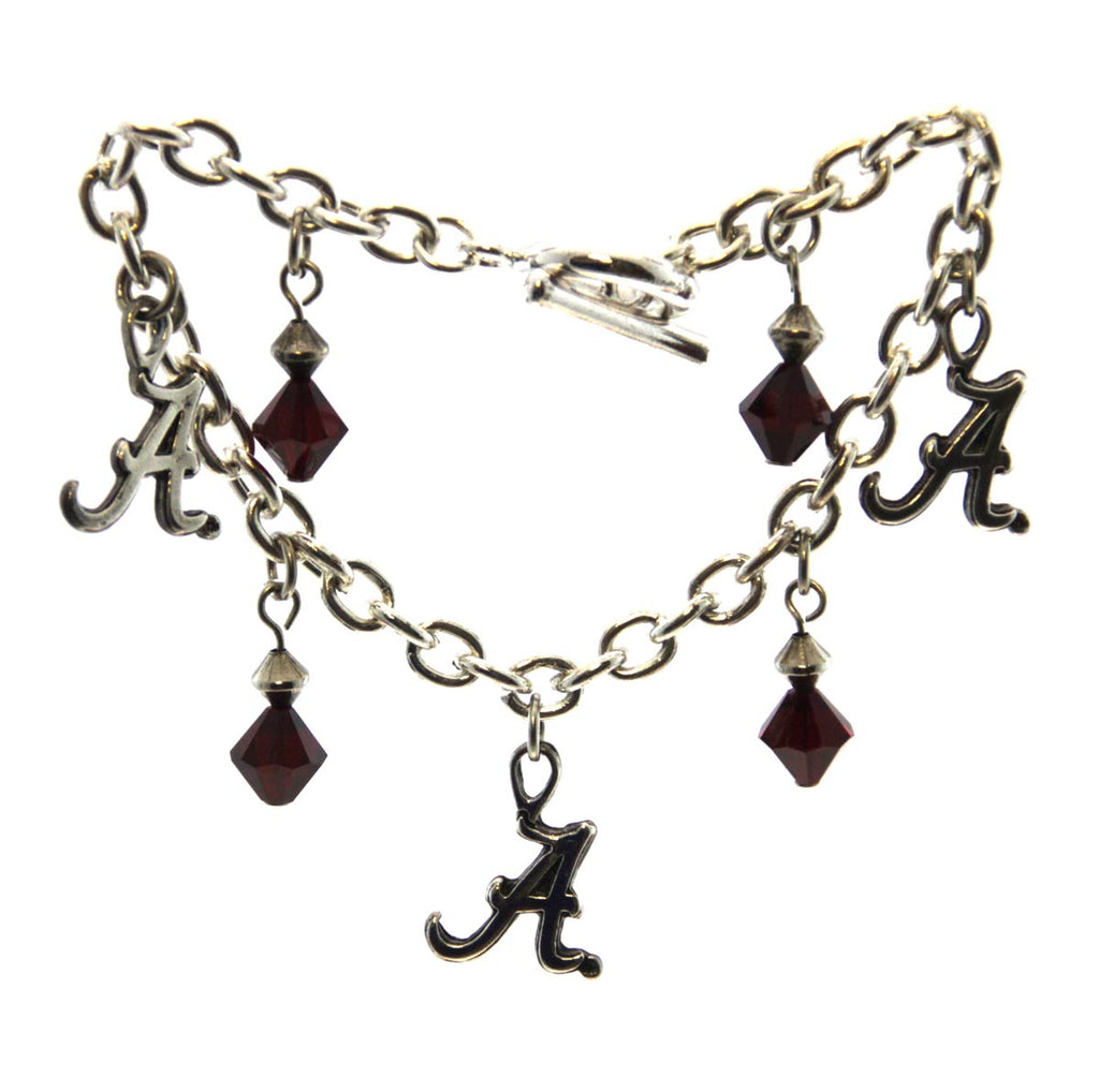 "Bracelet ""A"" Cable Chain Toggle 8"" University of Alabama"