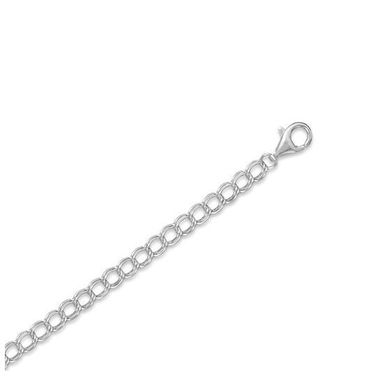 Sterling Silver Charm Chain 7""