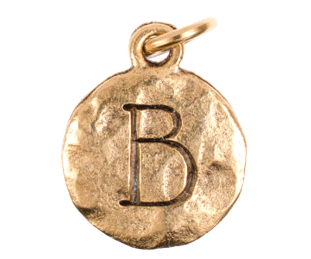 Monogram Beta Charm Gold