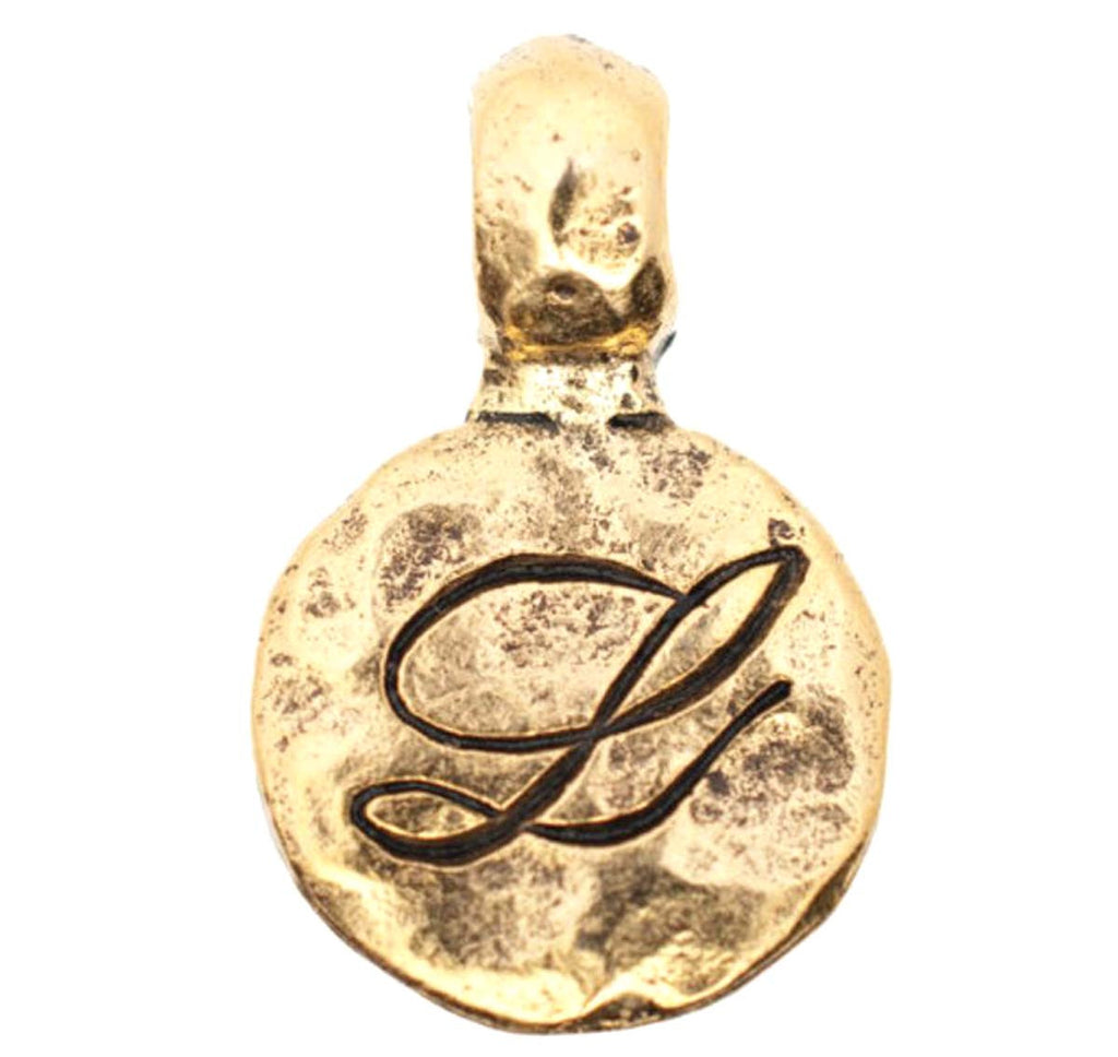 Charm Gold Monogram L with Bale