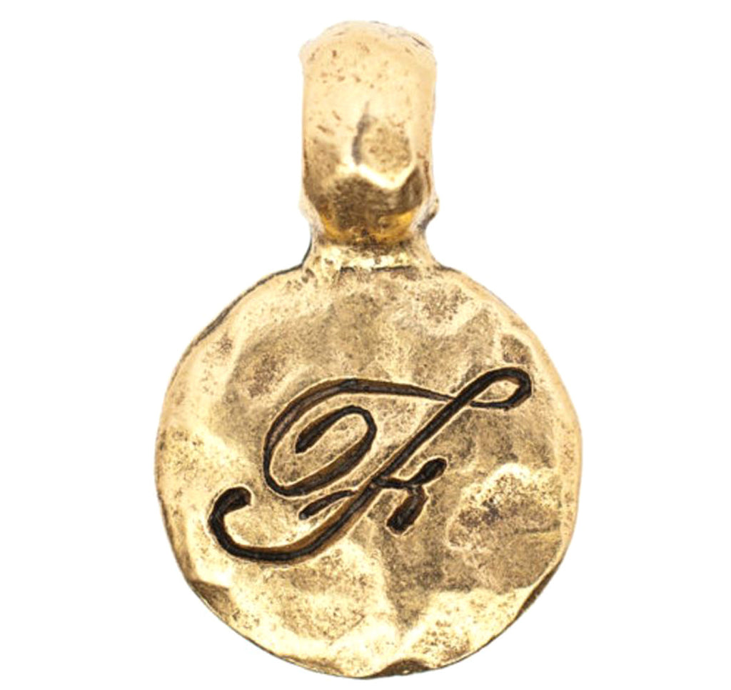 Monogram F with Bale Charm Gold