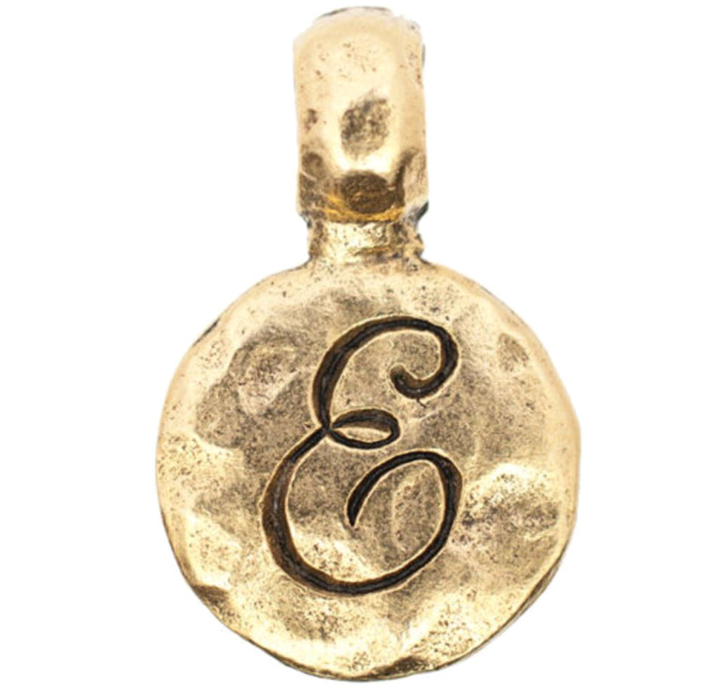 Monogram E with Bale Charm Gold