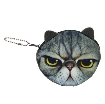 Animal Coin Purse - Angry Cat
