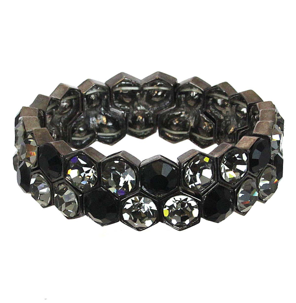 Bracelet Black/Smoke Hexagon