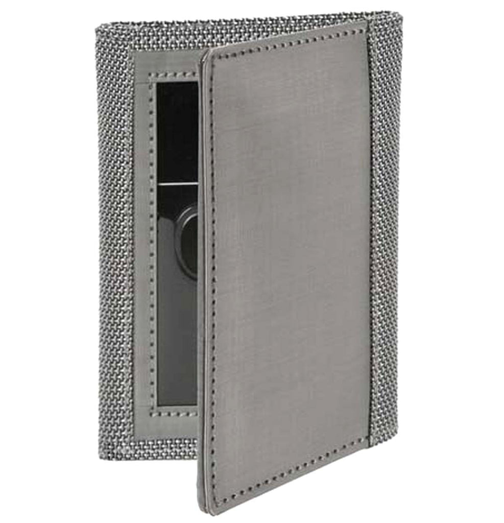 Stainless Steel Gusset Wallet Silver