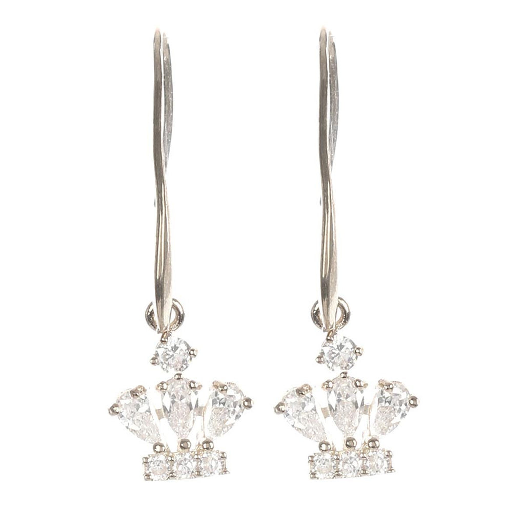 Crown Earrings Premium Zirconia