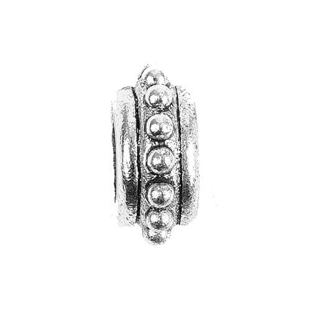 Charm Beaded Spacer Silver Character