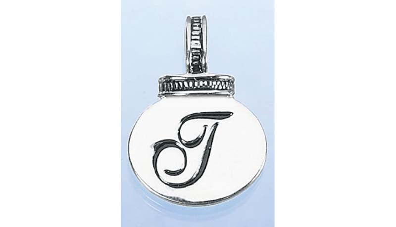 Initial Necklace/Keyring Charm - T