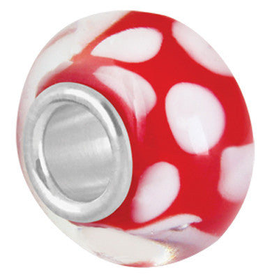 Red Dots LuTini Petite Red Glass Bead