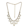 Rhinestone Necklace Gold