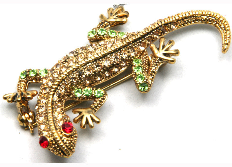 Lizard Pin Gold