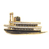 Ferry Steamboat Pin, Gold
