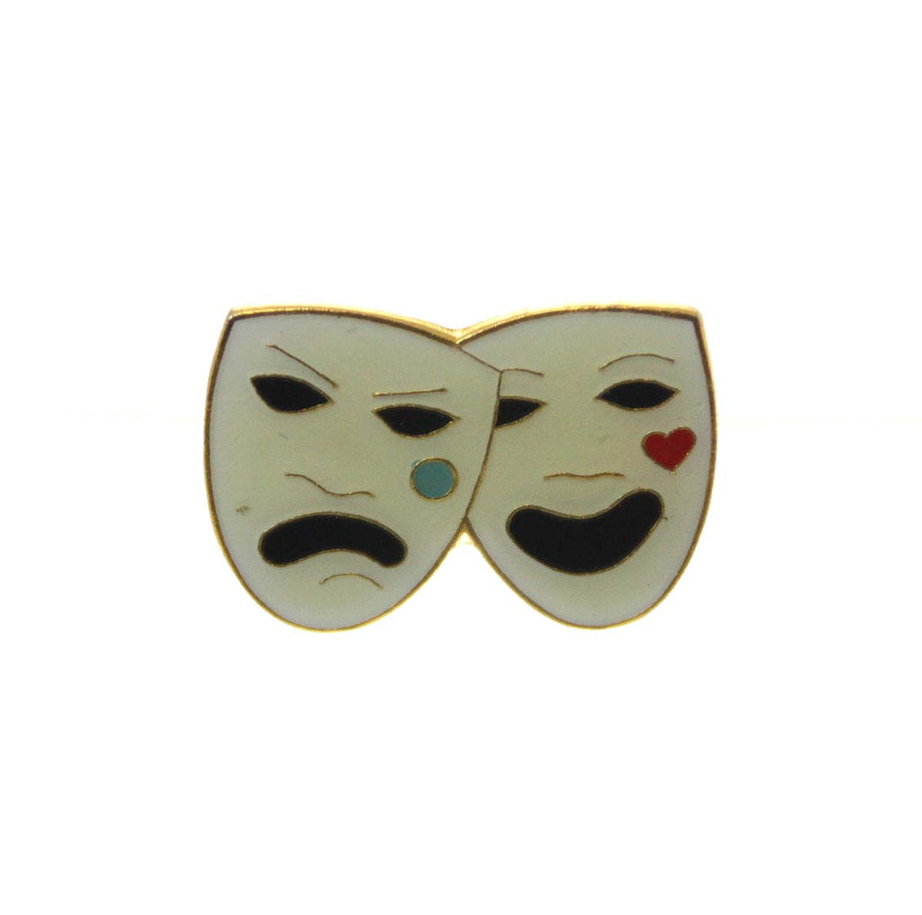 Comedy & Tragedy Hat Tac Pin