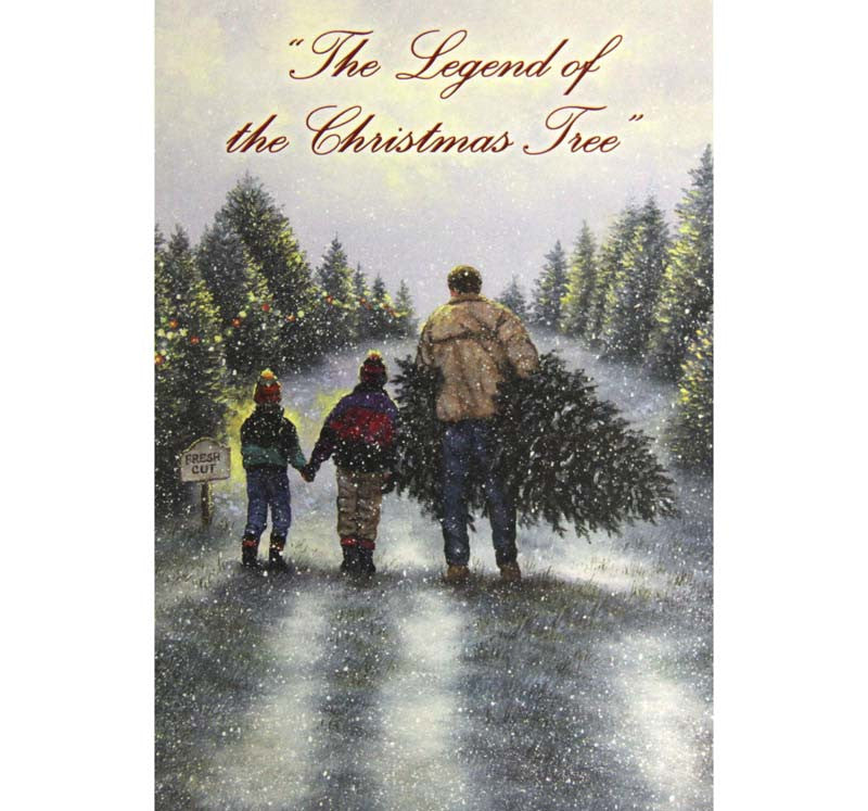 Box of 10 Christmas The Legend of the Christmas Tree
