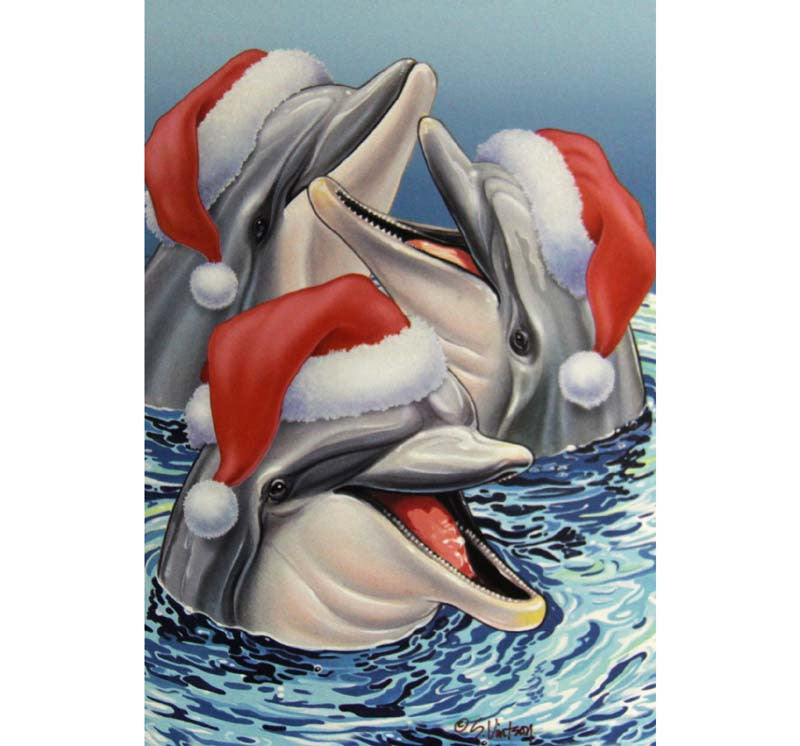 Box of 10 Christmas Cards Dolphins