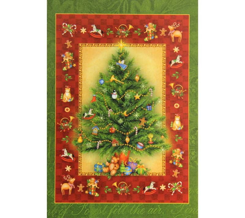 Box of 10 Christmas Cards Tree