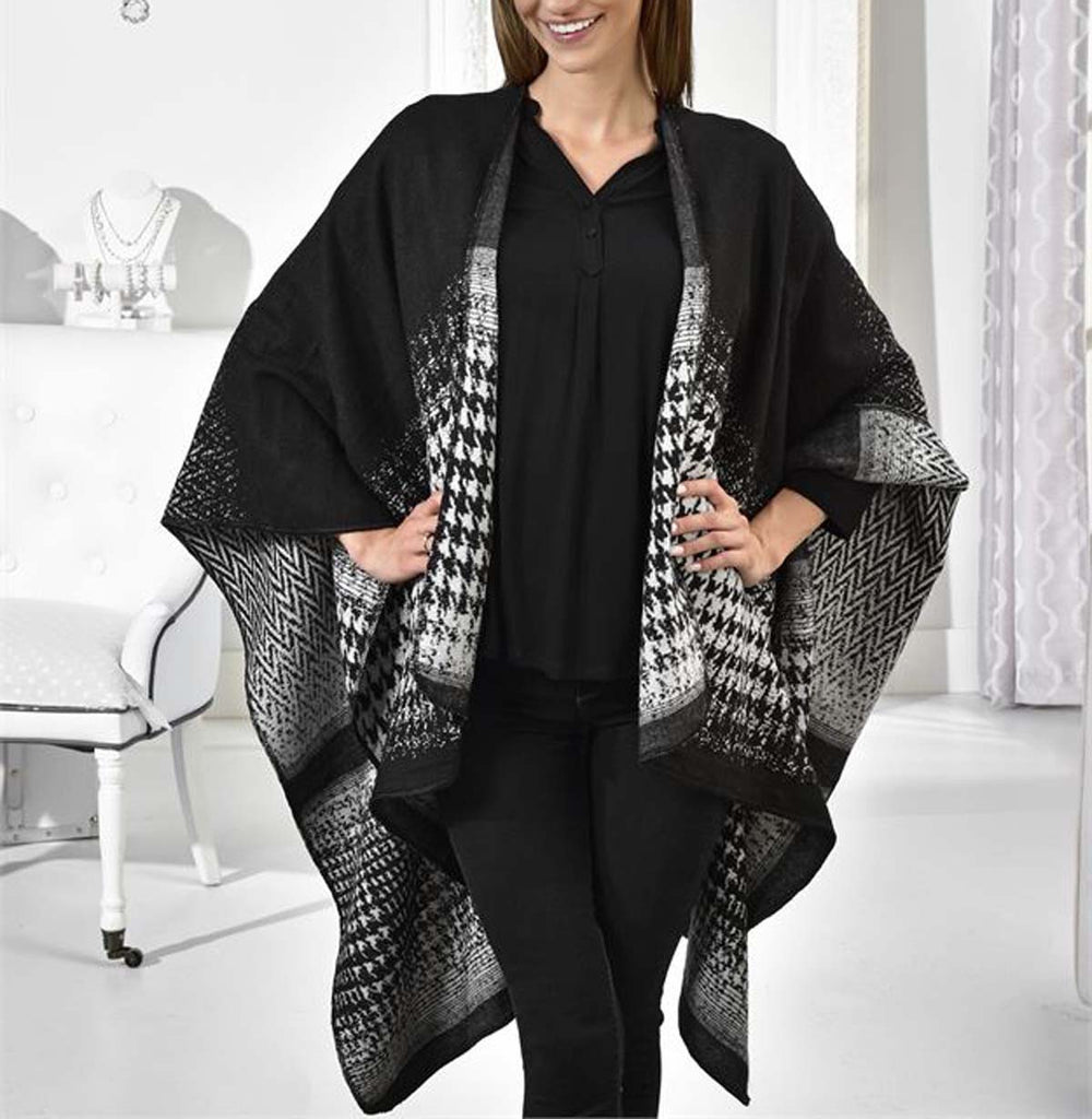 Houndstooth Acrylic Cape