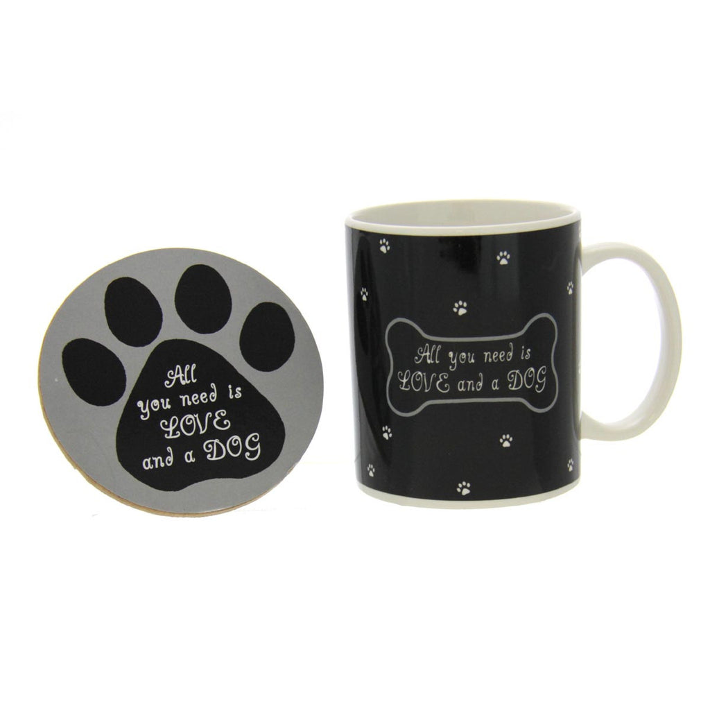 Dog Lovers Mug & Coaster - All You Need