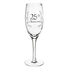 25th Anniversary Champagne Glass