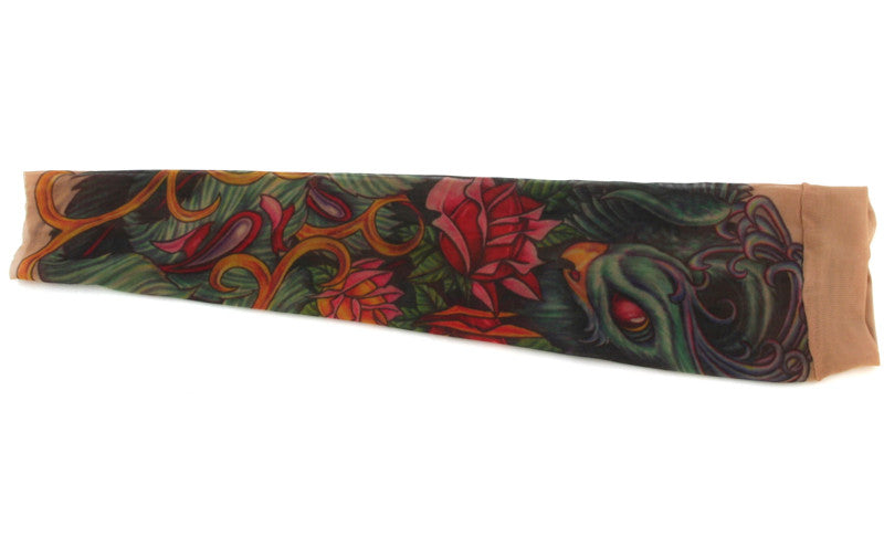 Tattoo Sleeve Peacock Large
