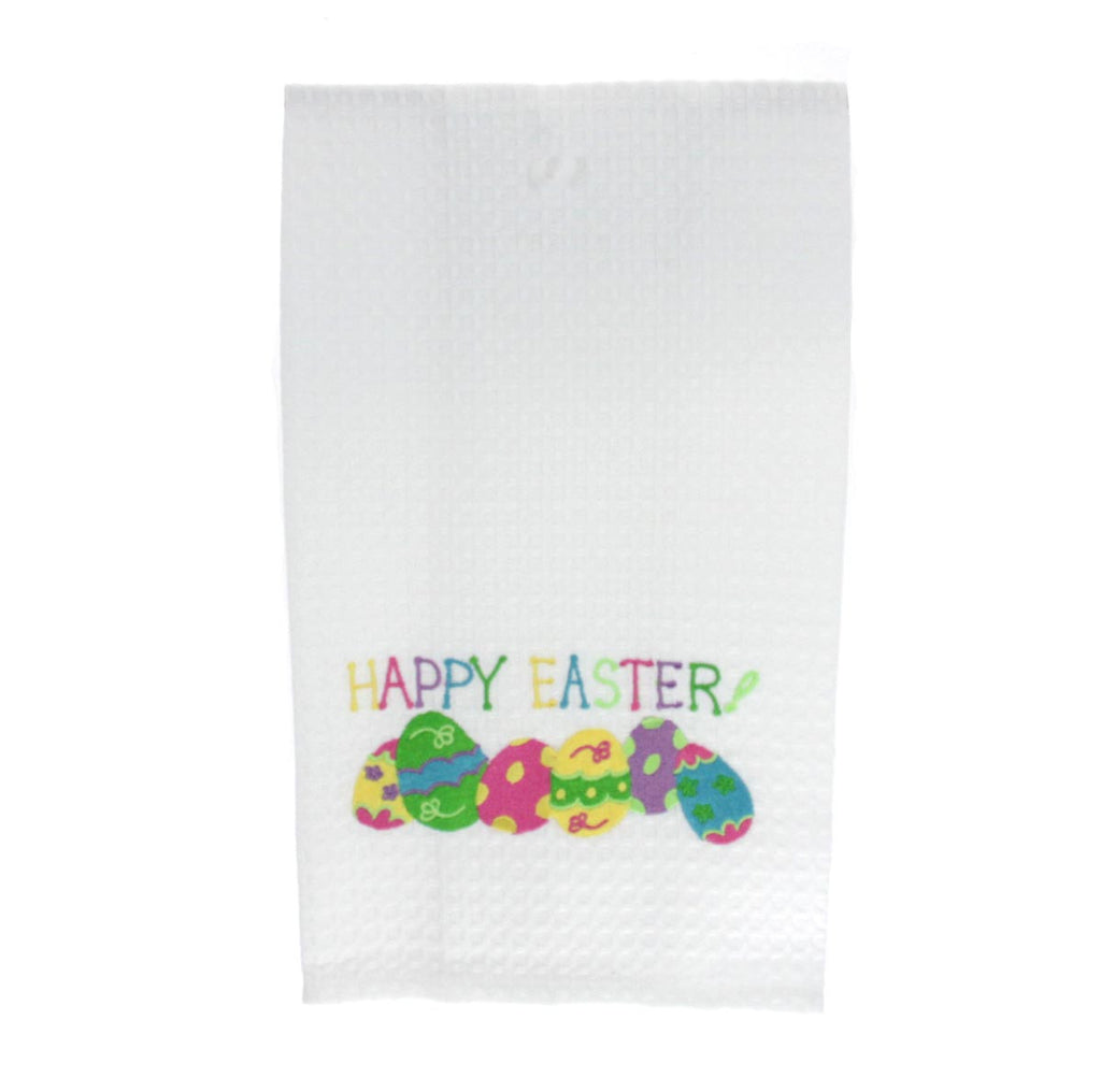 Happy Easter with Eggs Towel