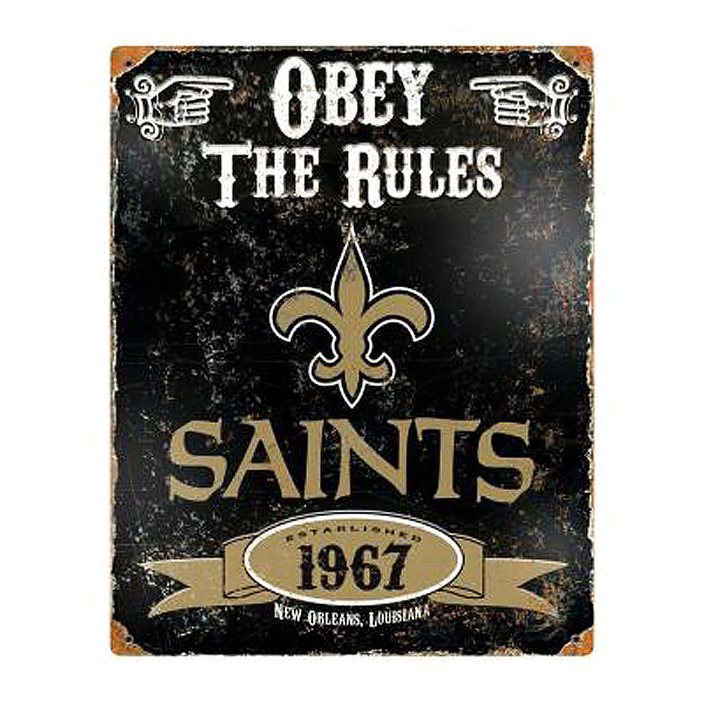New Orleans Embossed Metal Sign