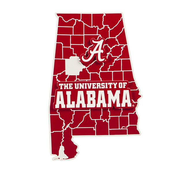 State Shape Wall Decor, University of Alabama