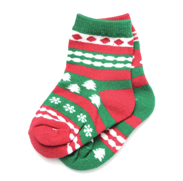 Holiday Baby Socks Red Green